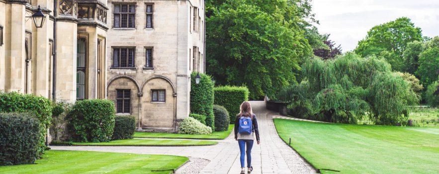 Image of Cambridge Student walking